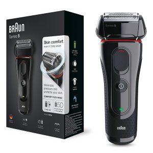 Afeitadora Braun negra y roja