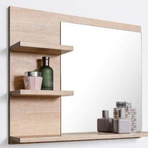 Espejo de baño con estantes