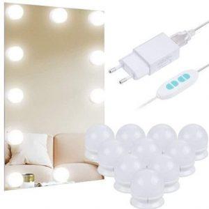 Espejo de baño original con bombillas