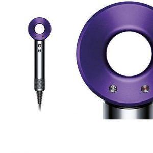 Secador de pelo Dyson níquel y púrpura